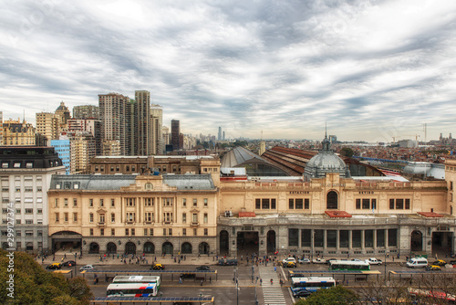 The Retiro train station building is the terminal of the Mitre railway at downtown Buenos Aires, Argentina.