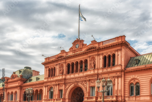 Poster Buenos Aires Casa Rosada on Plaza de Mayo in Buenos aires.