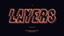 Vector Layers Font 3d Bold Lin...