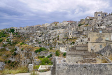 A Look At The Historical Part Of The City And The Neolithic Caves, Matera, Italy.