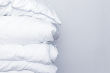Pile Of White Bedding Items, P...