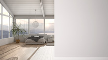 Modern Minimalist Bedroom With...
