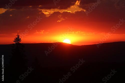 Beautiful sunset from Mt. Davis.