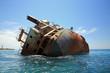 canvas print picture - shipwreck in the Black sea
