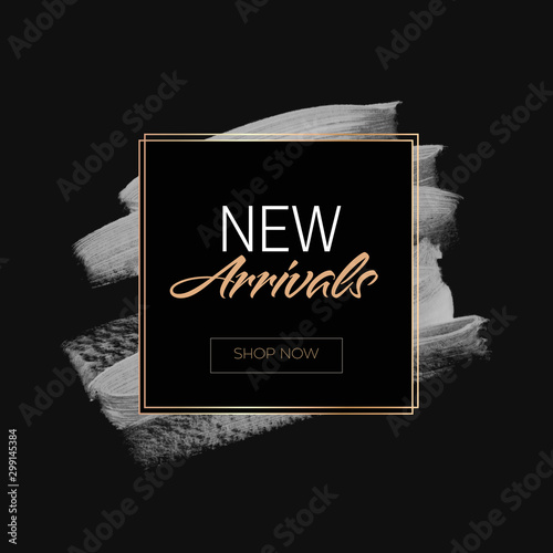New Arrivals Sale sign over art paint background vector illustration Wallpaper Mural