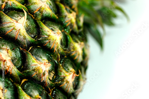 Stampa su Tela  Pineapple on a white background
