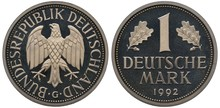 Germany German Coin 1 One Mark...