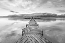 Dock With Wood In Zig Zag In T...
