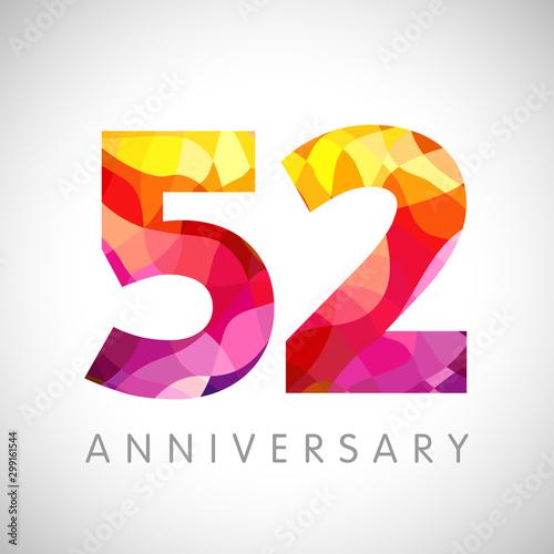 Tela  52 nd anniversary numbers