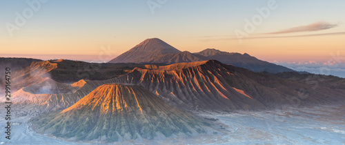 In de dag Beige Mount Bromo in Indonesia East Java
