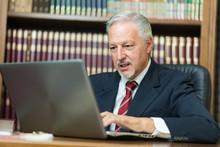 Businessman Using His Laptop I...