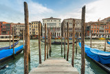Beautiful scenery of the grand Canal in Venice, Italy