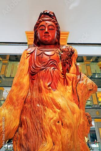 Bodhisattva wood carving Wallpaper Mural