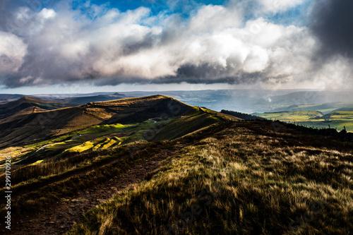 Photo Peak district , hope valley, buxton, great britain, england, derbyshire