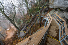 Stairway On Chimney Rock State...