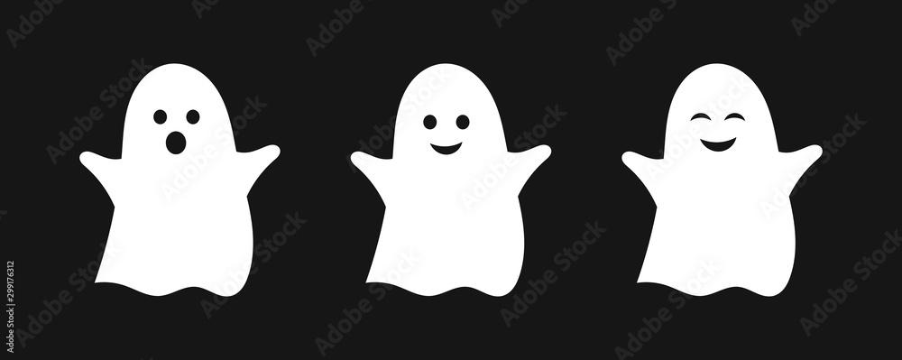 Fototapeta Three cute ghosts.