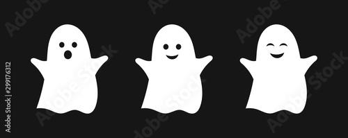 Three cute ghosts. фототапет