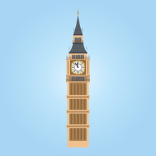 Vector Illustration Of Big Ben...