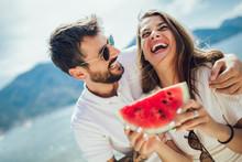 Portrait Of Happy Couple Enjoy...