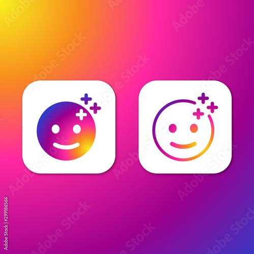 Fotografía Filter stories sticker for social media. Vector illustration