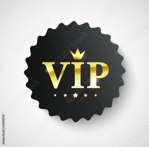 Fotomural  Vip label, badge or tag