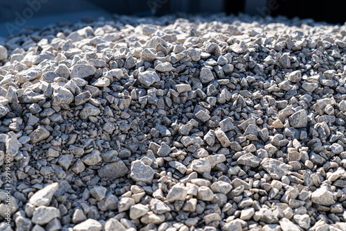Photo  A large pile of bulk 57 gravel sits ready to be used on a job site for a DIY hom