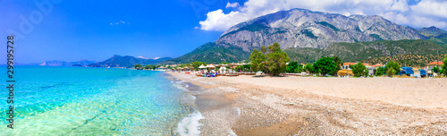 Greece. Beautiful turquoise beach scenery , Samos island, Marathokampos village