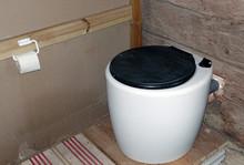Modern Simple White Dry Toilet.