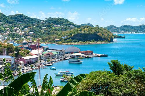 Caribbean sea - Grenada island - Saint George's - Inner harbor and Devils bay Wallpaper Mural