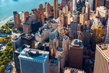 Fototapeta Nowy York - Aerial view of lower Manhattan New York City