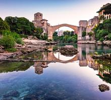 Mostar Bridge In The Morning