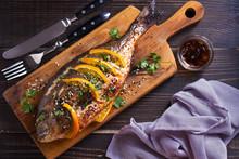 Orange Ginger Sea Bream Fish, ...
