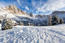 Beautiful Snowy Landscape With...
