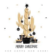 Christmas Cactus With Balls, G...