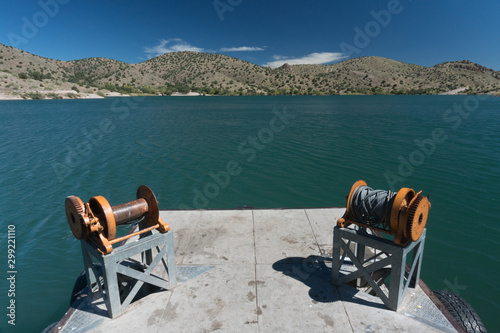 Photo  The rustic dock view at Bill Evans lake, New Mexico.