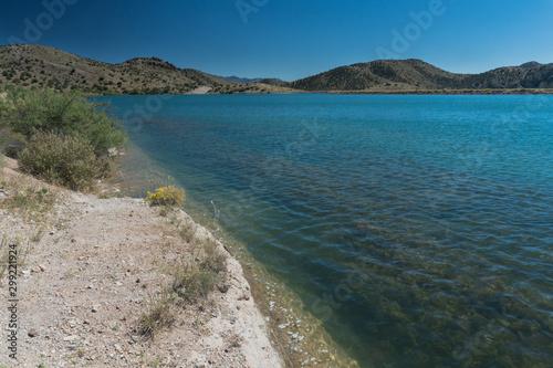Bill Evans Lake shore in  New Mexico near Silver City. Wallpaper Mural