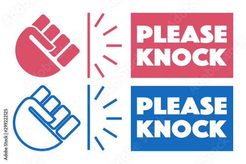 Leinwand Poster Vector illustration of please knock
