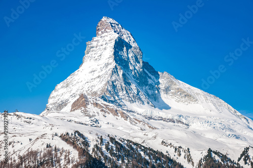 Matterhorn peak in sunny day, Switzerland Wallpaper Mural