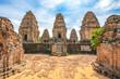 Leinwanddruck Bild - Ancient buddhist khmer temple in Angkor Wat, Cambodia. East Mebon Prasat