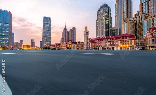 Modern architectural landscape and urban skyline.. - 299234387
