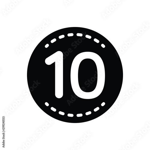 Valokuvatapetti Black solid icon for ten