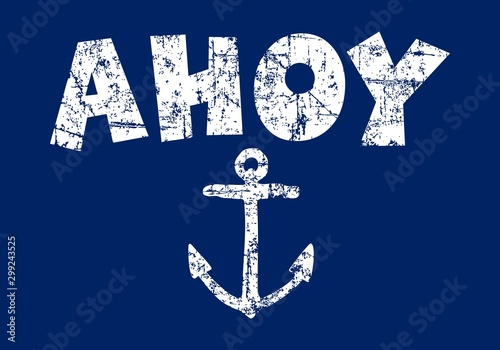 Ahoy (Vintage White) Canvas Print