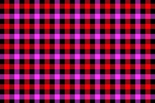 Red And Purple , Black  Plaid Pattern Background