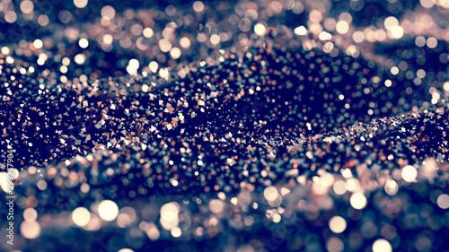 Fototapeta Luxury glitter background. 3d illustration, 3d rendering. obraz na płótnie