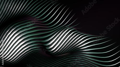 Luxury golden metal background with lines. 3d illustration, 3d rendering. #299248364