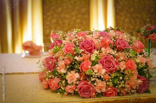 Foto おしゃれな花束のイメージ(結婚式)
