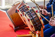 Leinwanddruck Bild - 和太鼓を演奏する人々のイメージ
