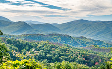 """""""Painting Style"""" Photograph Of Great Smoky Mountains National Park (Fall / Autumn) - Tennessee, USA"""