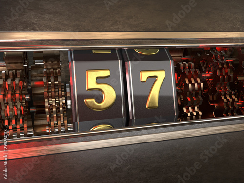 Fototapeta  number 57 style of slot machine