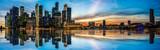 Fototapeta Miasto - Panoramic view of Singapore at twilight